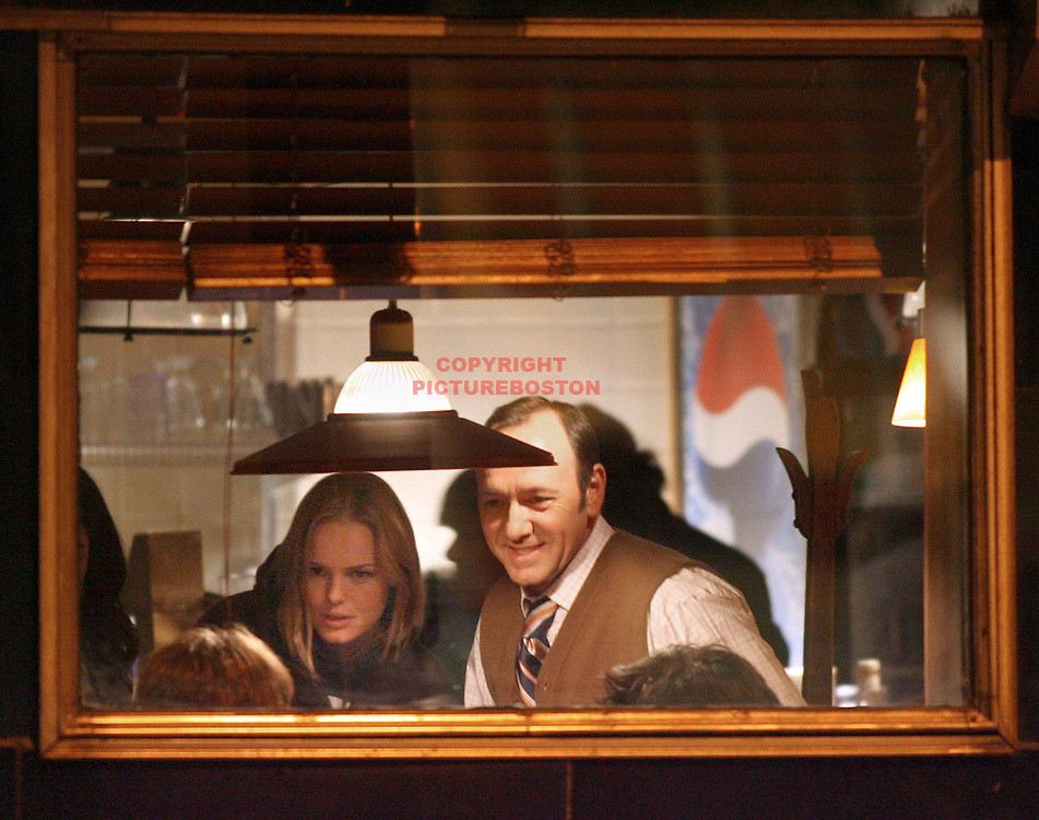Kevin Spacey and Kate Bosworth film in Boston.