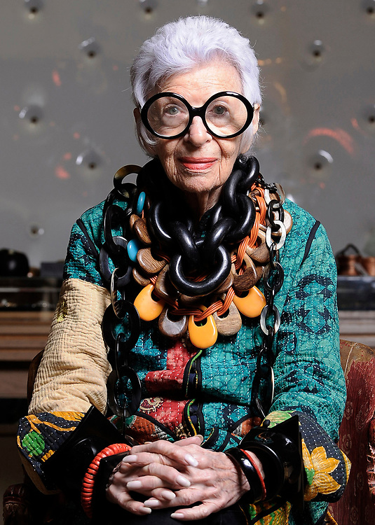 HOLLYWOOD, CA- April 27, 2015:  Fashion icon Iris Apfel at The Way We Wore vintage store.   (Mariah Tauger / For the Times)