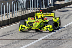 February 12, 2019 - U.S. - AUSTIN, TX - FEBRUARY 12: Simon Pagenaud (22) in a Chevrolet powered Dallara IR-12 leaves the pits during the IndyCar Spring Training held February 11-13, 2019 at Circuit of the Americas in Austin, TX. (Photo by Allan Hamilton/Icon Sportswire) (Credit Image: © Allan Hamilton/Icon SMI via ZUMA Press)