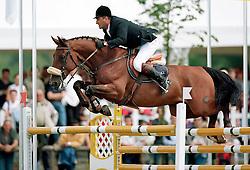 De Roock Gilbert (BEL)- Neron de la Tourelle<br /> CSIO Lummen 2001<br /> Photo © Dirk Caremans