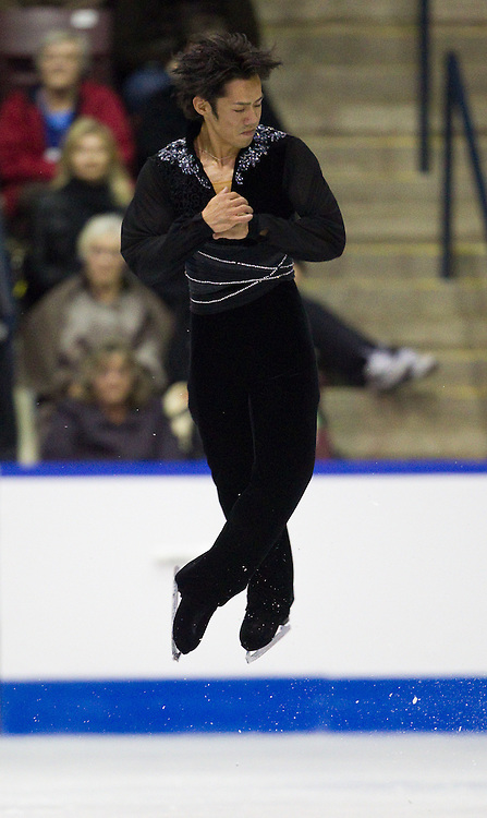 GJR353 -20111028- Mississauga, Ontario,Canada-  Daisuke Takahashi of Japan skates his short program at Skate Canada International, October 28, 2011.<br /> AFP PHOTO/Geoff Robins