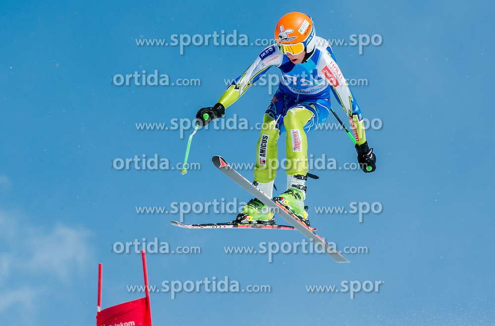 Jan Napotnik during Super G at Slovenian National Championship in Krvavec, Slovenia, on April 1, 2015. Photo by Marko Mavec / Sportida.com