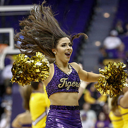 Feb 4, 2017; Baton Rouge, LA, USA; LSU Tigers Tiger Girls perform during the second half of a game against the Texas A&M Aggies at the Pete Maravich Assembly Center. Texas A&M defeated LSU 85-73. Mandatory Credit: Derick E. Hingle-USA TODAY Sports