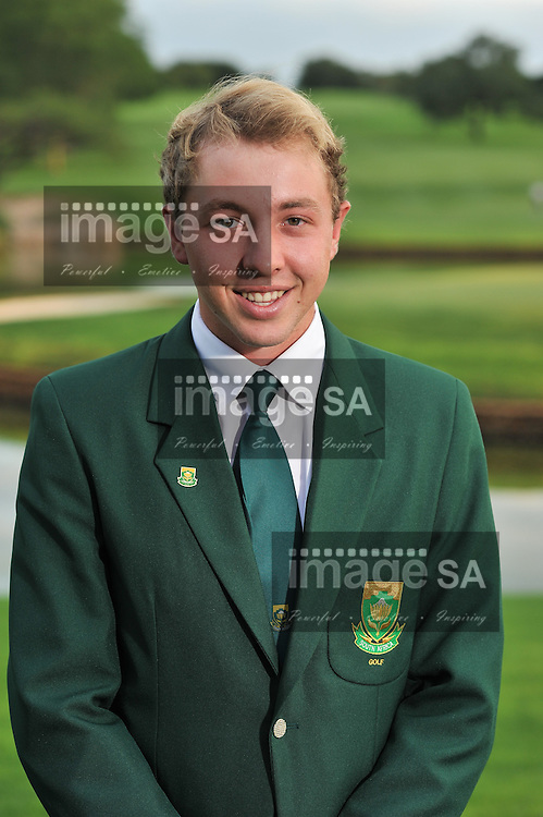 MALELANE, SOUTH AFRICA - Tuesday 17 February 2015, Paul Boshoff during the official flag raising ceremony of the annual Leopard Trophy, a two day test between teams of the South African Golf Association and the Scottish Golf Union, at the Leopard Creek Golf Estate.<br /> Photo Roger Sedres/ Image SA