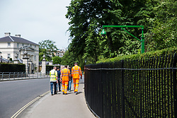 London, UK. 1 June, 2019. A security camera outside Winfield House, residence of the US ambassador to the UK. President Trump will be staying at Winfield House during his state visit to the UK.