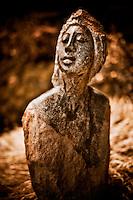 Zimsculpt at Van Dusen Botanical Garden: Woman of Authority - opal stone sculpture by Agnes Nyanhongo (original sculpture available at www.zimsculpt.com)