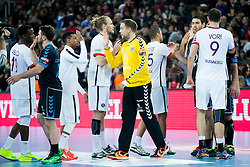 Players after handball match between PPD Zagreb (CRO) and Paris Saint-Germain (FRA) in 11th Round of Group Phase of EHF Champions League 2015/16, on February 10, 2016 in Arena Zagreb, Zagreb, Croatia. Photo by Urban Urbanc / Sportida