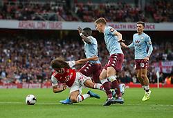 Matteo Guendouzi of Arsenal wins a penalty for Arsenal - Mandatory by-line: Arron Gent/JMP - 22/09/2019 - FOOTBALL - Emirates Stadium - London, England - Arsenal v Aston Villa - Premier League