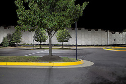 Night Urban landscapes of parking lot