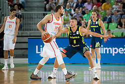 Pablo Aguilar of Spain during basketball match between Slovenia and Spain in Round #5 of FIBA Basketball World Cup 2019 European Qualifiers, on June 28, 2018 in SRC Stozice, Ljubljana, Slovenia. Photo by Urban Urbanc / Sportida