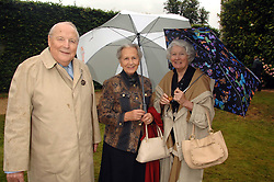 Left to right, The DUKE & DUCHESS OF RICHMOND & GORDON and BRONWEN, VISCOUNTESS ASTOR at the Cartier Style Et Luxe at the Goodwood Festival of Speed, Goodwood House, West Sussex on 24th June 2007.<br />