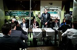 Marko Umberger at Official dinner of Davis Cup Slovenia vs Monaco competition, on February 1, 2017 in Rožmarin Restaurant, Maribor Slovenia. Photo by Vid Ponikvar / Sportida