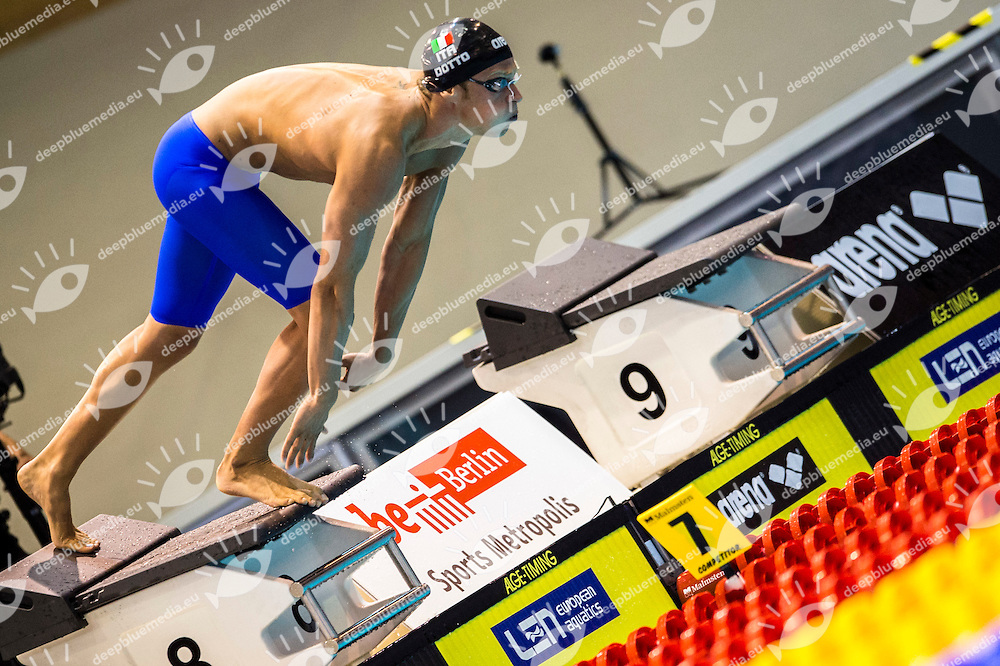 DOTTO Luca ITA<br /> 4x100m Freestyle Men Heats<br /> 32nd LEN European Championships <br /> Berlin, Germany 2014  Aug.13 th - Aug. 24 th<br /> Day06 - Aug. 18<br /> Photo G. Scala/Deepbluemedia/Inside