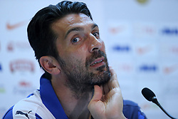 11.06.2015, Stadion Poljud, Split, CRO, UEFA Euro 2016 Qualifikation, Kroatien vs Italien, Gruppe H, Pressekonferenz Italien, im Bild Gianluigi Buffon // during press conference of team Italy pror to the UEFA EURO 2016 qualifier group H match between Croatia and and Italy at the Stadion Poljud in Split, Croatia on 2015/06/11. EXPA Pictures © 2015, PhotoCredit: EXPA/ Pixsell/ Ivo Cagalj<br /> <br /> *****ATTENTION - for AUT, SLO, SUI, SWE, ITA, FRA only*****
