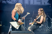 2019-06-07 | Norje, Sweden: Thundermother performing at Sweden Rock Festival ( Photo by: Roger Linde | Swe Press Photo )<br /> <br /> Keywords: Sweden Rock Festival, Norje, Festival, Music, SRF, Thundermother