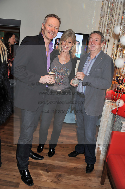 Left to right, RORY BREMNER and NICK & NETTE MASON at the Linley Christmas Party held at Linley, 60 Pimlico Road, London on 16th November 2011.