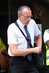 Graham Brown, father of Charlotte Brown leaves the Old Bailey after watching the trial of Jack Shepherd from Abergavenny, Wales, who is absent from his trial on charges of manslaughter following the death of Charlotte 'Charli' Brown, 24, who died following the capsizing of Shepherd's speedboat during a late night cruise on the River Thames in 2015. London, July 04 2018.