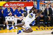 Golden State Warriors forward Jordan Bell (2) dunks the ball against the Utah Jazz at Oracle Arena in Oakland, Calif., on December 27, 2017. (Stan Olszewski/Special to S.F. Examiner)
