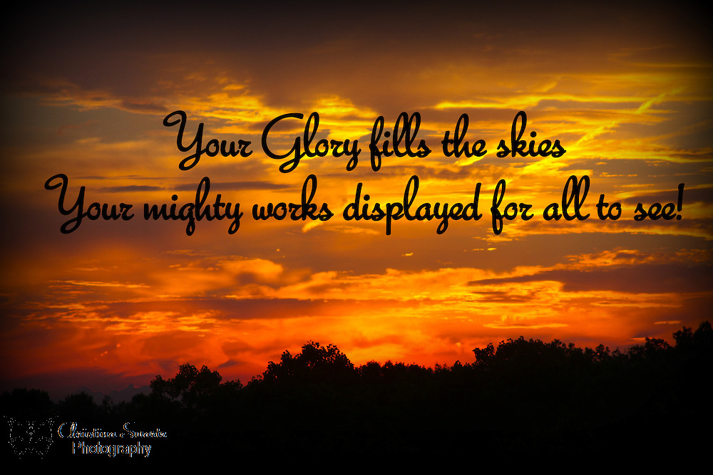 Ohio Sunset Bible Verse, Ohio Sunset with Bible Verse image for sale