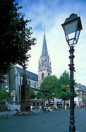 DEU, Germany, Aachen, Muenstersquare and St. Foillan church....DEU, Deutschland, Aachen, Muensterplatz und St. Foillan Kirche.  .... ..