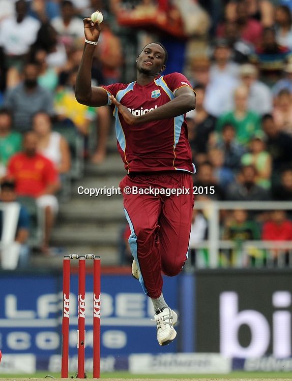 Jason Holder of West Indies during the 2015 KFC T20 International Series match between South Africa and West Indies at Wanderers, Johannesburg on the 11 January 2015  ©Muzi Ntombela/BackpagePix
