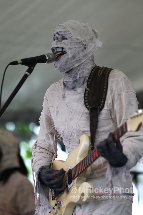 Here Come the Mummies perform at the Indianapolis Motor Speedway on May 15, 2011.<br />