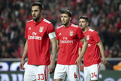 February 7, 2019 - Na - Lisbon, 06/02/2019 - SL Benfica received Sporting CP tonight at the Est√°dio da Luz stadium in the first leg of the Portuguese Cup 2018/19 semi-final. Jardel, R√∫ben Dias, André Almeida  (Credit Image: © Atlantico Press via ZUMA Wire)