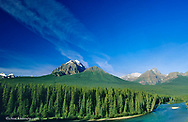 The Bow River in Banff National Park in Alberta Canada