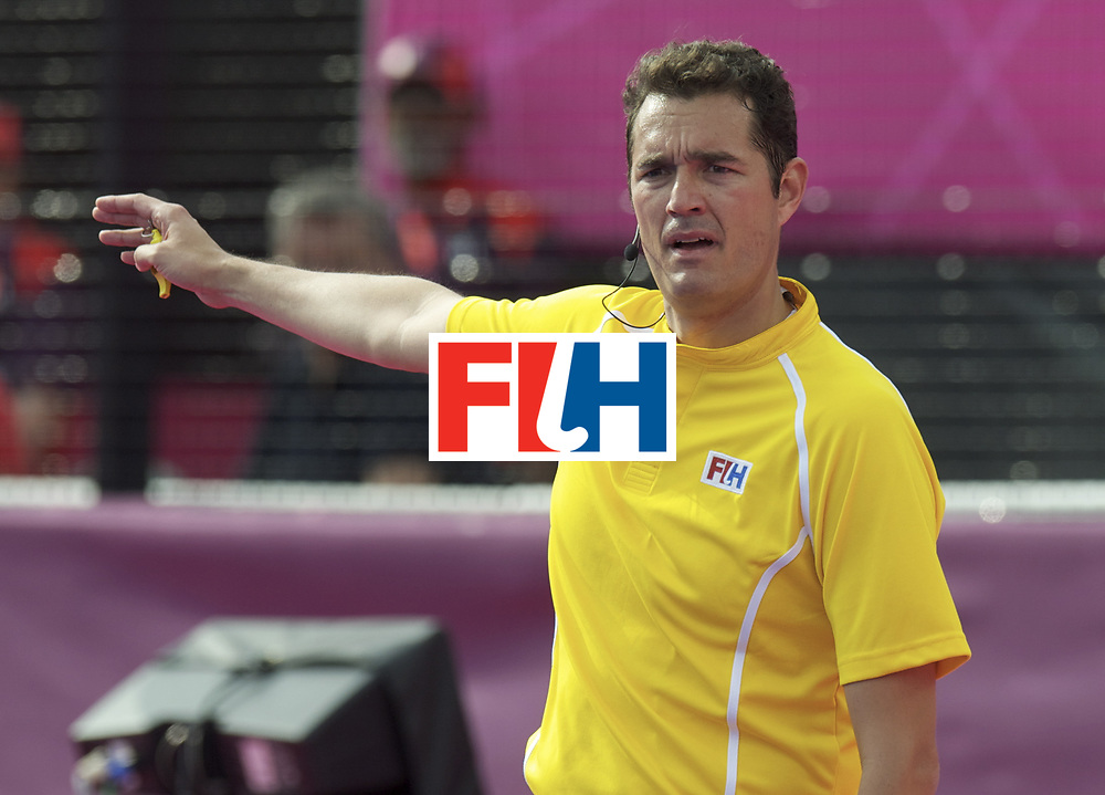 LONDON - Olympische Spelen 2012.Bronzmatch men..Australia v Great Britain..Foto: Umpire Christian Blasch..FFU PRESS AGENCY COPYRIGHT FRANK UIJLENBROEK.