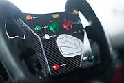 August 4-6, 2017: Lamborghini Super Trofeo at Road America. Road America map on Huracan ST steering wheel