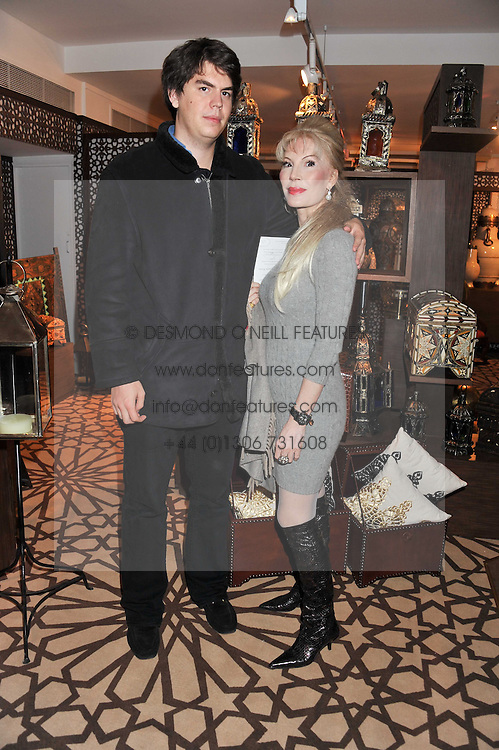 DONATELLA FLICK and her son SEBASTIAN FLICK at the Inspiring Morocco launch held at Harrods, Knightsbridge, London on 3rd November 2011.