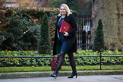 © Licensed to London News Pictures. 19/12/2017. London, UK. Secretary of State for Culture, Media and Sport Karen Bradley arrives on Downing Street for the weekly Cabinet meeting. Photo credit: Rob Pinney/LNP