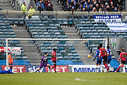 Peterborough midfielder Erhun Öztümer scores a goal to make it 1-0 to Peterborough during the Sky Bet League 1 match between Gillingham and Peterborough United at the MEMS Priestfield Stadium, Gillingham, England on 23 January 2016. Photo by David Charbit.