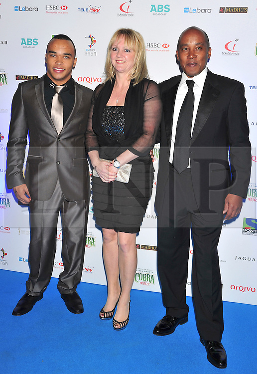 © under license to London News Pictures. 04/03/11. Nick Hamilton , Guest and Anthony Hamilton attend Lebara British Asian Sports Awards , Saturday 5th March 2011 at the Grosvenor House Hotel, Park Lane, London. Photo credit should readalan roxborough/LNP