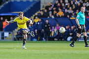 Oxford United's Chris Maguire strikes a free kick during the Sky Bet League 2 match between Oxford United and Luton Town at the Kassam Stadium, Oxford, England on 16 April 2016. Photo by Shane Healey.