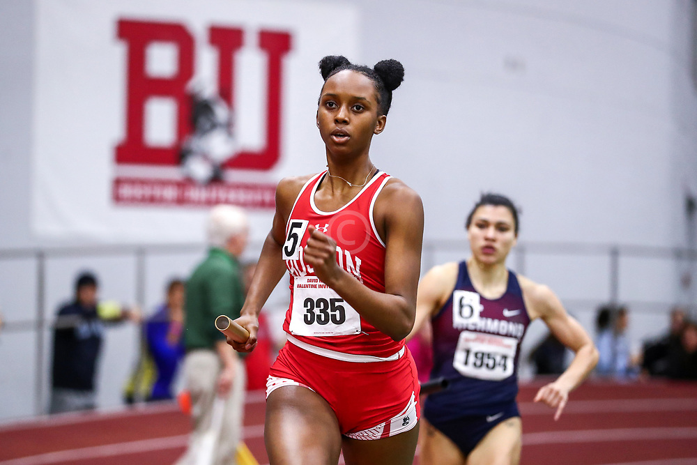 David Hemery Valentine Invitational<br /> Indoor Track & Field at Boston University , womens 4x400 relay, BU,