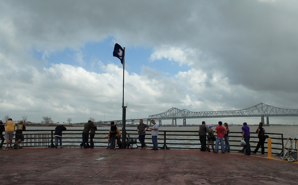 On the Ferry to Algiers, New Orleans, Fat Tuesday 2008
