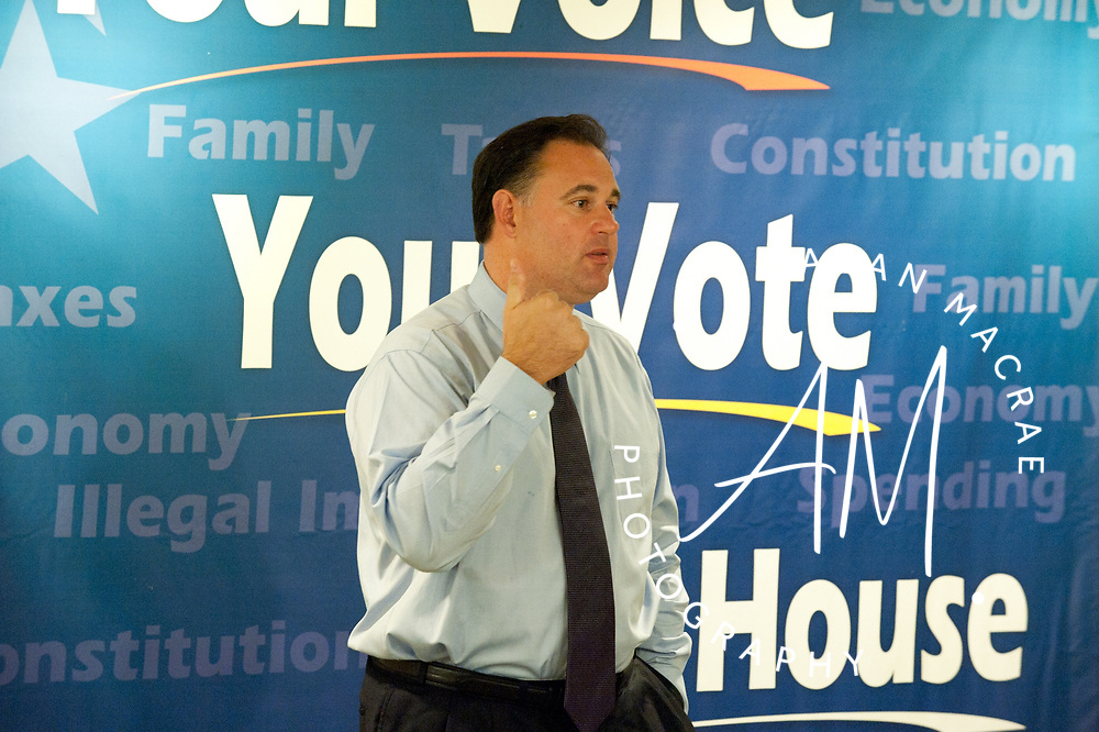 Congressional candidate Frank Guinta speaks during a town hall meeting at the Taylor Community on Tuesday, August 10, 2010.  (Alan MacRae/for the Citizen)