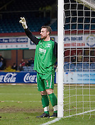 Livingston goalkeeper Andrew McNeil - Dundee v Livingston, IRN BRU Scottish Football League, First Division at Dens Park - ..© David Young - .5 Foundry Place - .Monifieth - .Angus - .DD5 4BB - .Tel: 07765 252616 - .email: davidyoungphoto@gmail.com.web: www.davidyoungphoto.co.uk