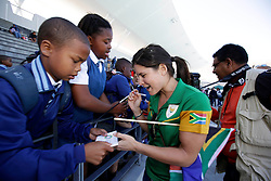 Monday 17th October 2016.<br /> Grand Parade & Greenpoint Athletics Stadium, Cape Town,<br /> Western Cape, South Africa.<br /> <br /> Cape Town Honours South African Olympic And Paralympic Heroes<br /> <br /> Paralympian Ilse Hayse signing autographs for school children at Greenpoint Athletics Stadium.<br /> <br /> Cape Town honours the South African Olympic and Paralympic heroes during a special celebratory event held in Cape Town, Western Cape, South Africa on Monday 17 October 2016.<br /> <br /> Picture By: Mark Wessels / Real Time Images.