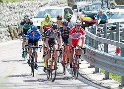 16.04.2018, Folgaria, ITA, Tour of the Alps, Italien 1. Etappe Arco nach Folgaria im Bild Marco Friedrich (AUT, Tirol Cycling Team) führt die Spitzengruppe an // during the Tour of the Alps 1st stage from Arco to Folgaria, Italy on 2018/04/16. EXPA Pictures © 2018, PhotoCredit: EXPA/ Reinhard Eisenbauer