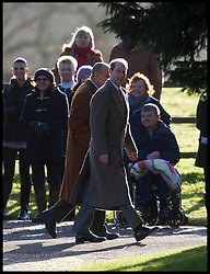 The Duke of Edinburgh and Prince Edward join HM The Queen attends church on the Sandringham Estate, Sunday December 30, 2012. Photo: Andrew Parsons / i-Images