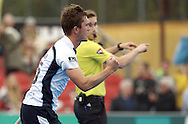 HAMBURG - Euro Hockey Leaque round 1.1.<br /> MONKSTOWN v EASTGRIN (Pool D)<br /> foto: Simon Faulkner scores 0-1<br /> FFU PRESS AGENCY COPYRIGHT FRANK UIJLENBROEK