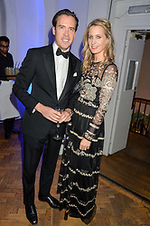 ANDREW & ARABELLA DUNN at the Sugarplum Dinner in aid Sugarplum Children a charity supporting children with type 1 diabetes and raising funds for JDRF, the world's leading type 1 diabetes research charity held at One Marylebone, London on 18th November 2015.