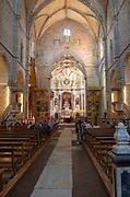 Interior of historic church of Saint Francis, Igreja de São Francisco, city of Evora, Alto Alentejo, Portugal, Southern Europe