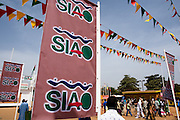 Banners outside of the 22nd Salon International de l'Artisanat de Ouagadougou (SIAO) in Ouagadougou, Burkina Faso on Saturday November 1, 2008.