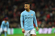 Gabriel Jesus (33) of Manchester City during the EFL Cup Final match between Arsenal and Manchester City at Wembley Stadium, London, England on 25 February 2018. Picture by Graham Hunt.