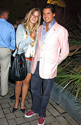 EDWARD TAYLOR and FREDERICA LOVELL-PANK at the opening party of the new Frankie's Italian Bar and Grill hosted by Frankie Dettori, Marco Pierre White and Edward Taylor at 68 Chiswick High Road, London W4 on 1st September 2005.<br />