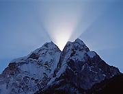 Sunrise over Himalayas near Everest Base Camp, Khumbu region, Nepal