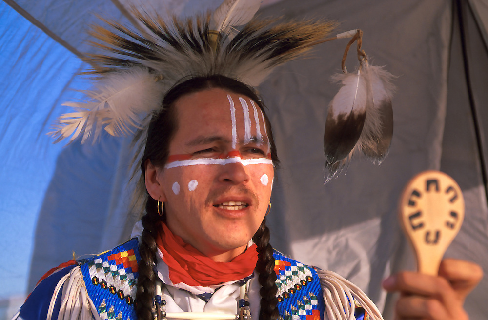 Gary Gott,<br /> Cree Nation, Duck Lake Pow Wow,<br /> Saskatchewan, Canada
